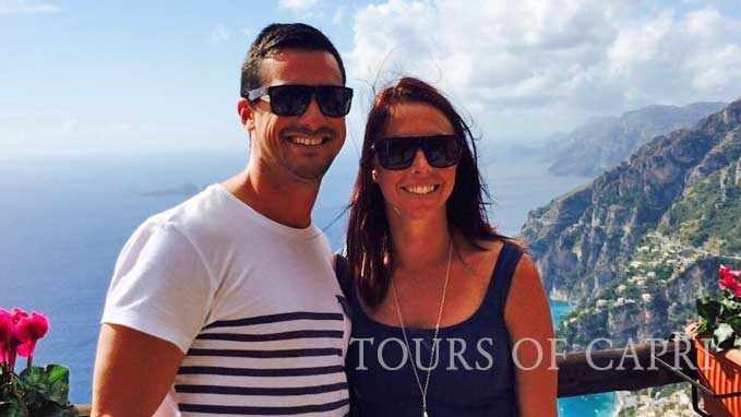 A lovely couple on honeymoon on our tour of the Amalfi Coast
