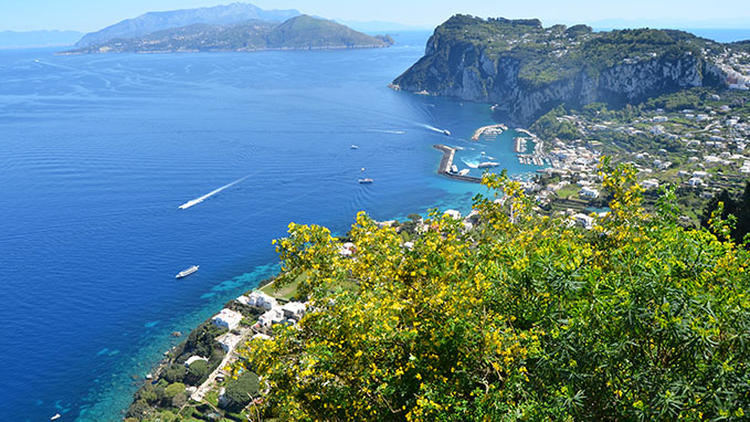 Capri Island Blue Sea