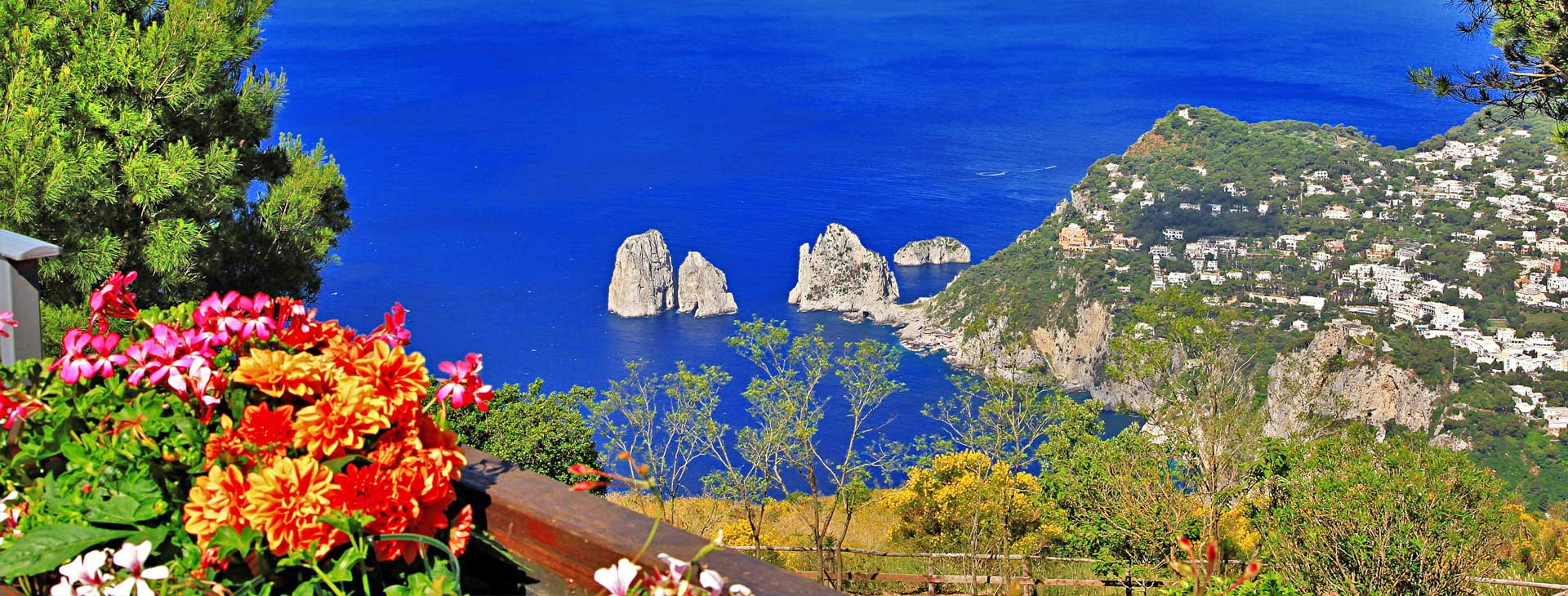 View of Capri Island with Faraglioni